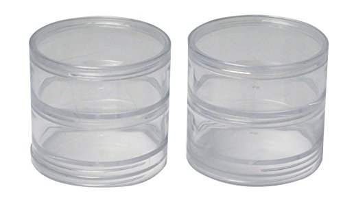 SE 87446BB 4 Plastic Storage Containers with Stackable Screw-On Lids 2-34 Clear