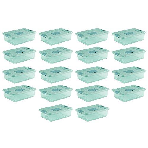 Sterilite 32 Quart Fresh Scent Stackable Plastic Storage Box Container 18 Pack