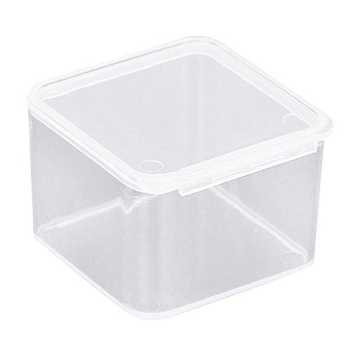 Zeroyoyo Transparent Plastic Storage Box Coin Jewellery Pill Organizer Container Case