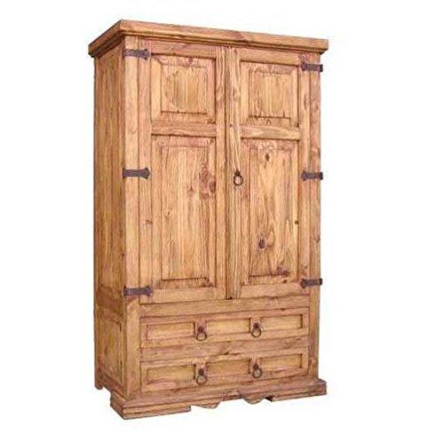 San Gabriel 2 Door 2 Drawer Solid Wood Armoire