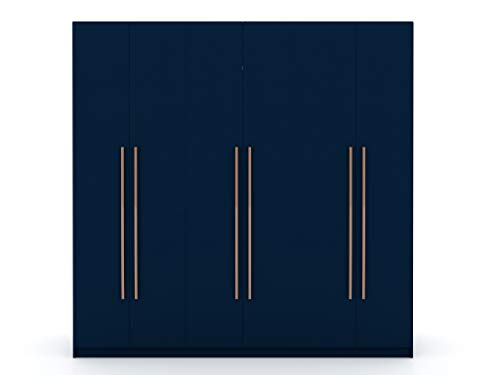 Manhattan Comfort Gramercy Contemporary Modern Freestanding Wardrobe Armoire Closet 8248 Tatiana Midnight Blue
