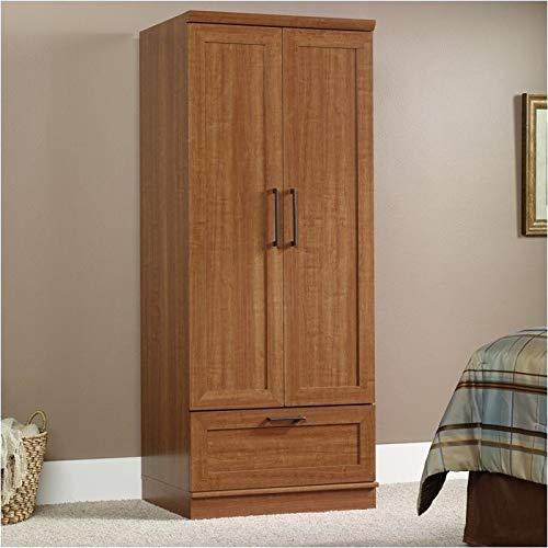 Pemberly Row Wardrobe Armoire in Sienna Oak Finish