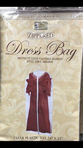 Clear Plastic Storage Dress Bag - 24 X 53 4
