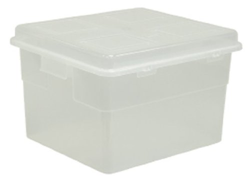 United Solutions TO0014 Thirty Five Quart Clear Plastic Storage Container with Lid - 35QT Plastic Organizing Box and Lid in Clear