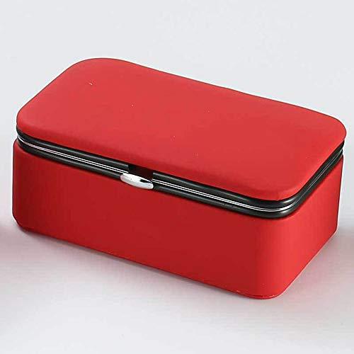 Jewelry BoxJewelry Display BoxJewelry CaseJewellery Organizer with MirrorJewellery Storage for EarringRingsBraceletsJewelry Small OrganizerRed