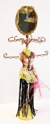 Purple Dress Mannequin Jewelry Organizer with Mirror