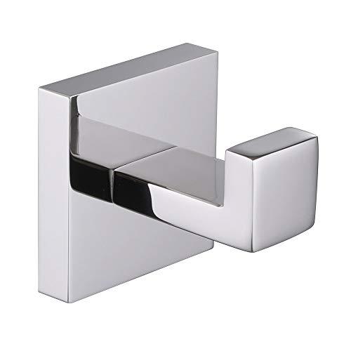 Bath Towel Hook Angle Simple Solid Metal Bathroom Shower Square Hook Hand Towel Bathrobe Sponges Hanger Kitchen Cabinet Closet Hook Pants And Shirt Holder Polished Chrome Wall Mounted