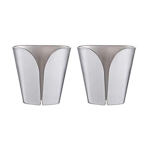 KES Kitchen Towel Hooks Self Adhesive Dish Towel Holder Hand Towel Hook Hanger Rustproof Stainless Steel Brushed Finish 2 Pack AH7201-2-P2