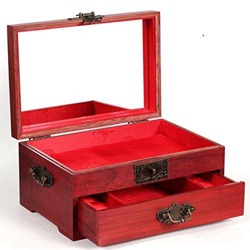 Antique mahogany vanity casered sandalwood quality jewelry boxeswedding jewelry box