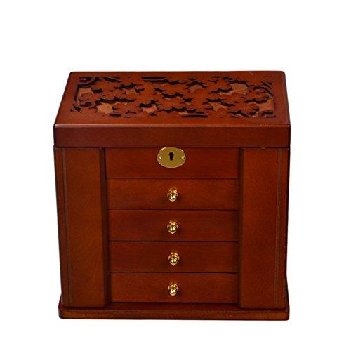 TRE quality jewelry boxes wood jewelry boxPrincess locked European jewellery storage box wedding gifts-B