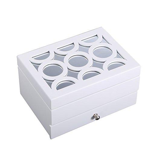 jewel box European solid wood quality jewelry boxPrincess Korea vintage jewelry boxStorage Boxgifts for birthday or wedding-A