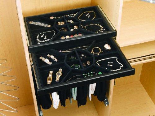 Rev-A-Shelf CJD-2414 Jewelry Drawer with Slides Black