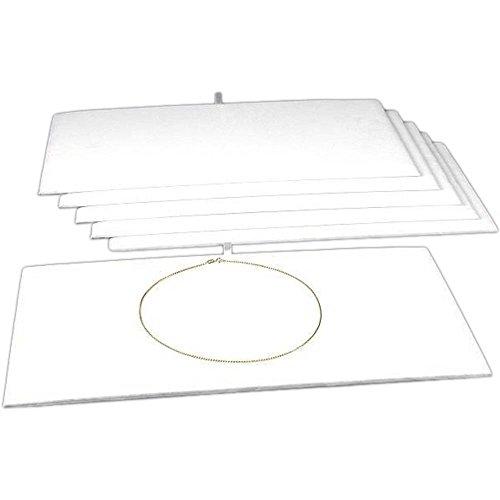 6 White Velvet Jewelry Chain Display Pad Showcase Tray Inserts 14 18
