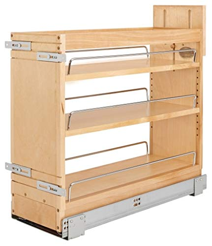 Rev-A-Shelf 448-BDDSC-11C 448-BDDSC Series 15 Inch Two Tier Pull Out Base Cabinet Organizer with 3 Shelves and Blumotion Slides