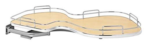 Rev-A-Shelf 5371-18-MP-L 5371 Series Left Handed Blind Corner Single Tier Base Cabinet Organizer for 18 Inch Cabinet Opening