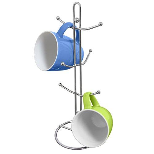Evelots Mug Tree Rack Holder With 6 Hooks
