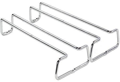 DecoBros 2PK Single Rail Wine Glass Stemware Rack Holder Chrome