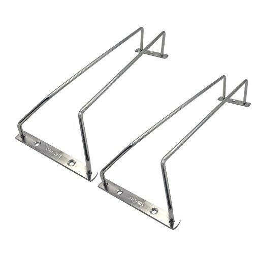 Shelving Solutions stainless Stemware Rack Under Cabinet Glass Rack pack of 2