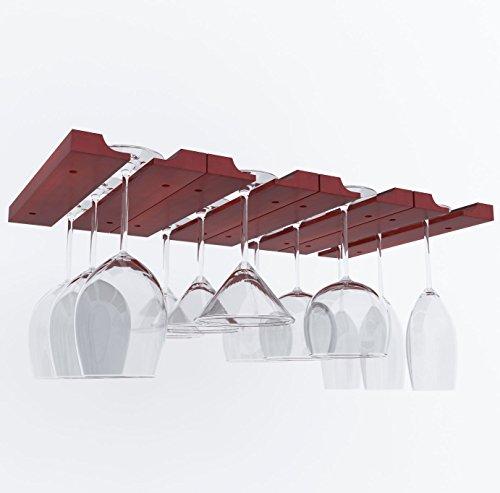 Stemware Rack Set Mahogany 2