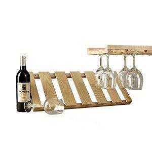 Wooden Hanging Stemware Rack
