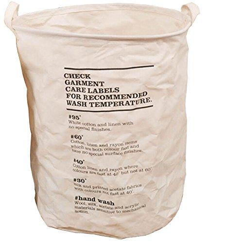 Waterproof Foldable Linen Washing Clothes Laundry Basket Hamper Bin Storage Bag WhiteCheck