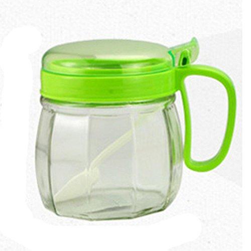 jii2030shann 350ml glass tune bottle with a spoon yh5879 tank salt box kitchen utensils pots bottles adjust salt adjusting the bottle