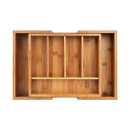 Drawer Cutlery Storage Box Wooden Kitchen Cabinet Storage Trough Medicine Box Household Portable 395x26x45cm