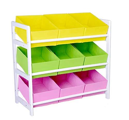 Kids Toy Organizer and Storage BinsCanvas Storage Toy BoxBinCubeChestBasketOrganizer for Kids