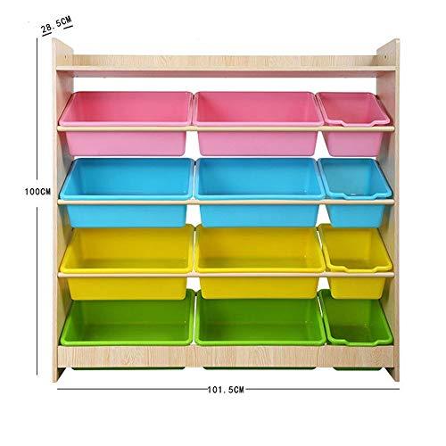 Multipurpose Childrens Toy Storage Box Durable Kids Toy Storage Organizer with Plastic Bins Storage Box Shelf Drawer- Perfect for Household Storage Fabrics Or Toys