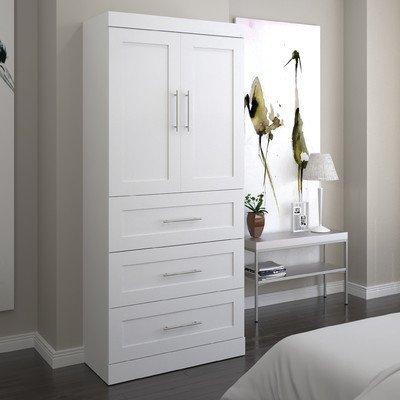 Bestar Pur 36 3 Drawer Storage Unit in White