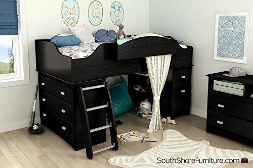 South Shore Imagine 2-Drawer Storage Unit Black Oak