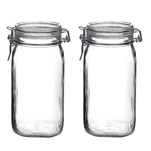 Bormioli Rocco Fido Glass 5075 Ounce Food Storage Jar Set of 6