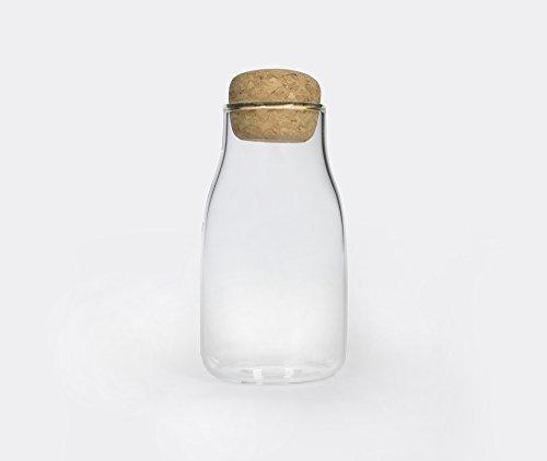 Kinto Bottlit Glass Food Storage Jar with Cork Lid - Keeps Dried Food Loose-leaf Tea Coffee Beans Fresh - 150ml