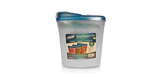Assorted Food Keeper w Scoop Lid Set 3-Pack