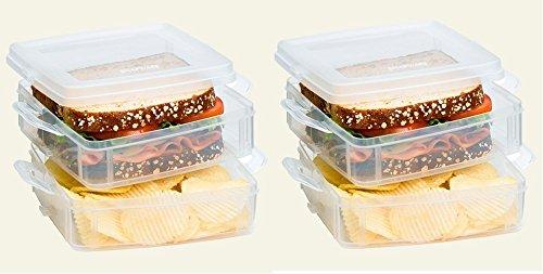 Snapware Snap N Stack Food Keeper 2 Layer Pack Of 2
