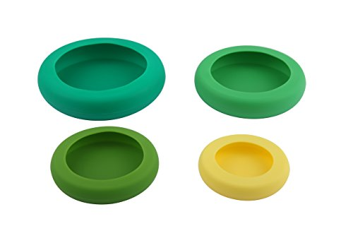 HOSIM Reusable Silicone Food Saver 4 Sizes Silicone Caps Food Storage Fruit and Vegetable Storage Containers Fresh Saver Helps Your Foods Keep Fresh Safely Assorted Color