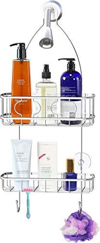 Simple Houseware Bathroom Hanging Shower Head Caddy Organizer Chrome 22 x 102 x 42 inches