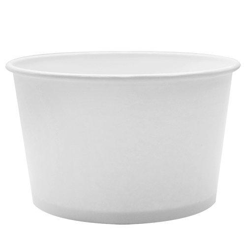 Karat 28oz Double Poly Paper ColdHot White Food Container-142mm 600Pcs Yogurt Container C-KDP28W