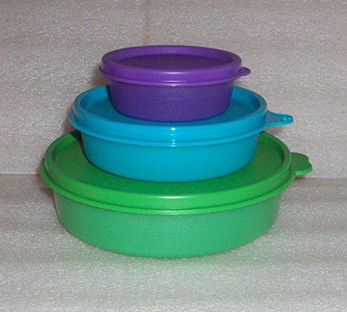 Tupperware Set of 3 Small Bowls Medium Little Wonders Half Snack Cup