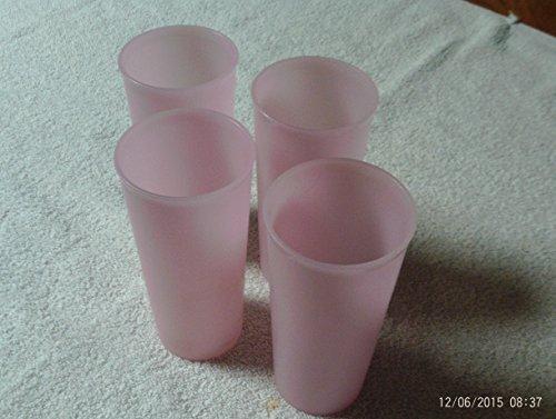 Tupperware Set of 4 12oz Tumblers Pastel Pink