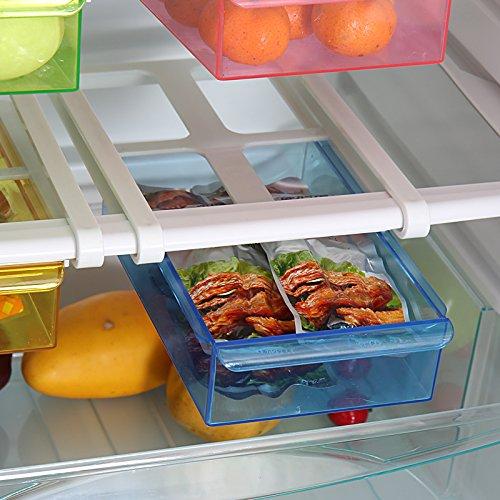 Kicode Storage Box Refrigerator Shelf Storage For Food Container Kitchen ToolsBlue
