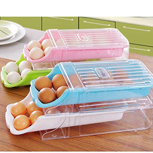 Kitchen Home Refrigerator Storage Plastic Drawer Type Egg Holder Box Container Dispenser Case