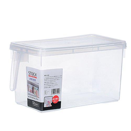 Pixnor Refrigerator Storage Box Refrigerator Organizer Food Container Box with Handle