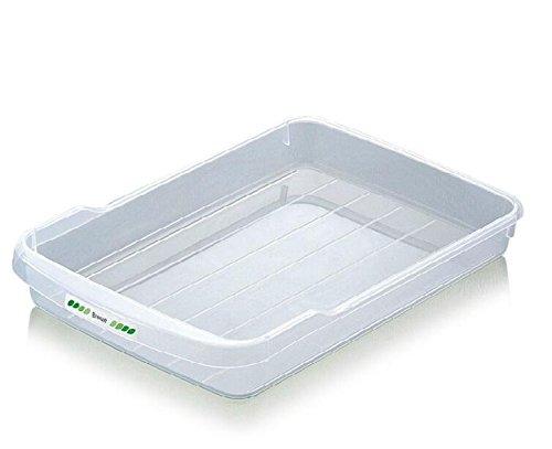 Refrigerator Food Storage Baskets Plastic Clear Stackable Refrigerator Fridge and Freezer Storage Bins Organizer Holder Tray Container 3 Size Size2
