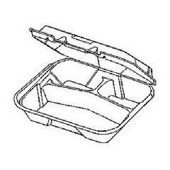 GenpakSnap It™ Hinged-Lid Foam Food Container GNP SN341