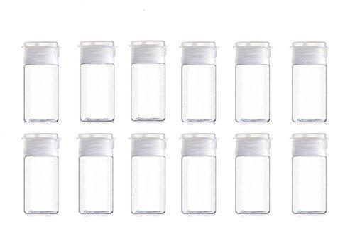 15ml05oz Clear Plastic Empty Flip Lid Sample Bottle Reusable Container Jar Pot Vial Apply to travel 12 PCS