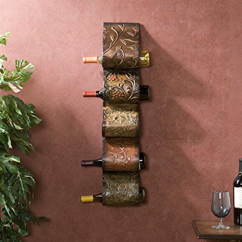 Harper Blvd Valorian Metal Wall Mount Wine Storage Rack Sculpture