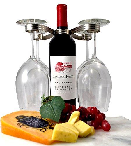 Mango Steam Easy Slip on Wine Glass Holder Silver