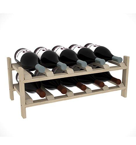 Creekside 10 Bottle Magnum Modular Exclusive Wine Shelf 12 Pine
