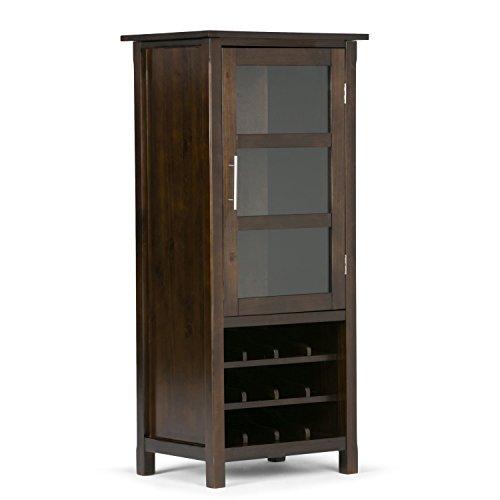 Simpli Home Avalon High Storage Wine Rack Rich Tobacco Brown